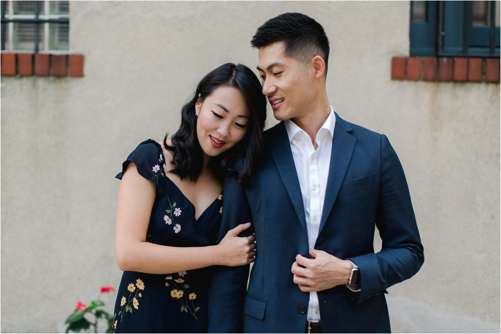Engagement Session at the Washington mews in new york city