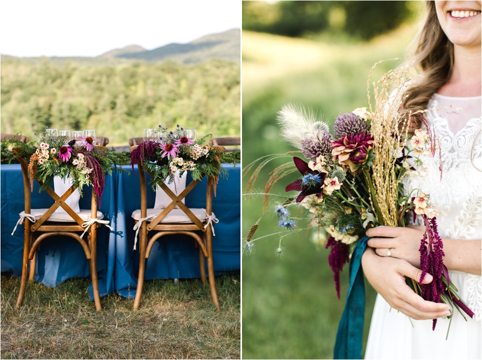 Organic bouquets and flowers by Little Farmhouse Flowers - Elopement in the Adirondack Mountains | Shaw Photo Co.